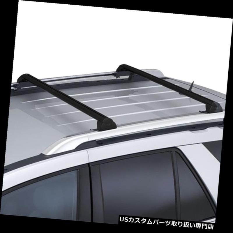 カーゴ ルーフ キャリア 02-07サターンVUEのための2xアルミルーフラックレールクロスバーカーゴキャリアブラック 2x Aluminum Roof Rack Rail Cross Bar Cargo Carrier Black For 02-07 Saturn VUE