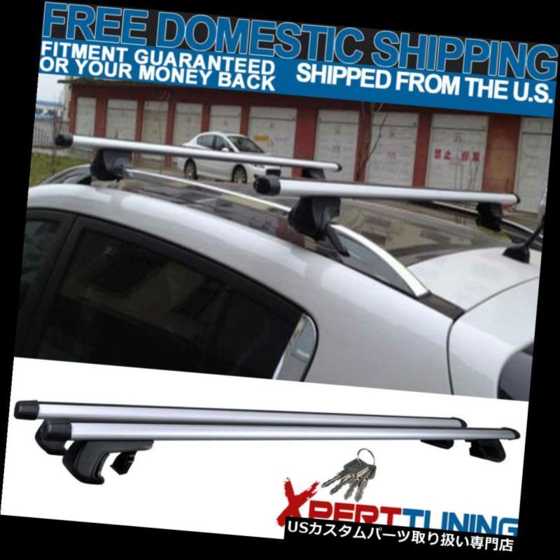USカーゴ、ルーフ キャリア 48インチアルミアジャスタブルトップルーフラッククロスバーキャリア120CMにフィット Fit For 48 Inch Aluminum Adjustable Top Roof Rack Cross Bars Carrier 120CM