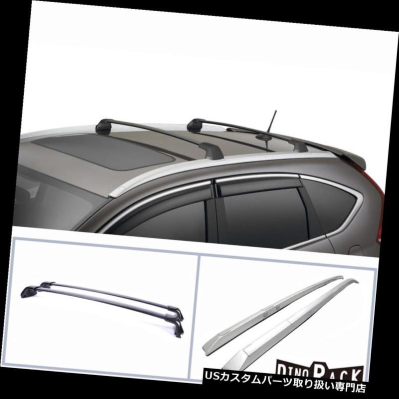 カーゴ ルーフ キャリア フィット12-14 CR-V OEスタイルABSルーフラックサイドレール+アルミ荷物マウントクロスバー Fit 12-14 CR-V OE Style ABS Roof Rack Side Rail+Aluminum Luggage Mount Cross Bar