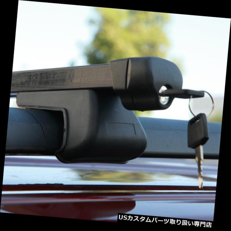 カーゴ ルーフ キャリア MAZDA 5 / MPV / TRIBUTEヘビーデューティスチールルーフラック48インチクロスバーキャリアにフィット Fit MAZDA 5/MPV/TRIBUTE Heavy-Duty Steel Roof Rack 48