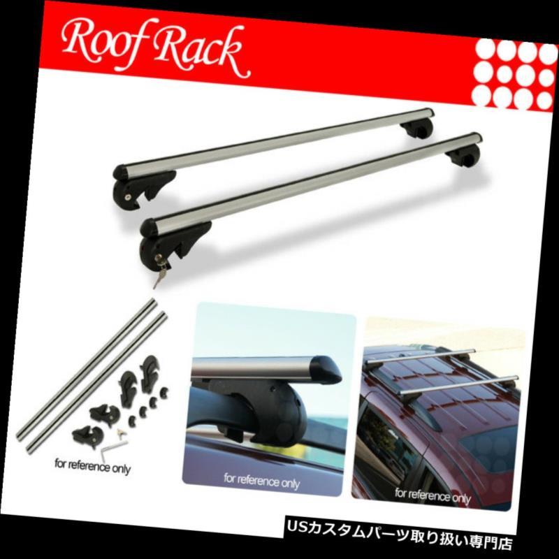 カーゴ ルーフ キャリア ジープレールタワールーフトップマウントラックアルミ製48インチクロスバー荷物キャリア Fit Jeep Rail Tower RoofTop Mount Rack Aluminum 48