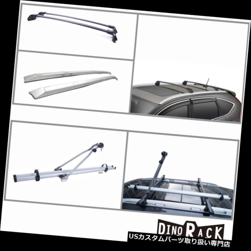 カーゴ ルーフ キャリア フィット12-15 CR-V OEスタイルABSルーフラックサイドレール+アルミクロスバー+バイクキャリア Fit 12-15 CR-V OE Style ABS Roof Rack Side Rail+Aluminum Cross Bar+Bike Carrier