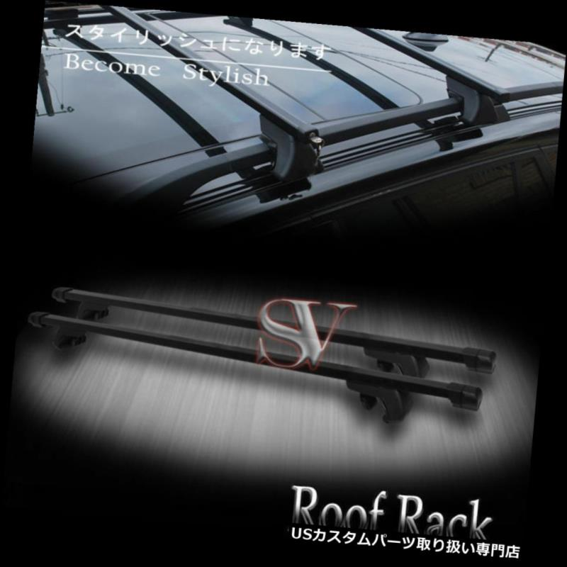 カーゴ ルーフ キャリア 日産ルーフラックキーロッククロスバートップレールマウントブラックカーゴキャリア用 For Nissan Roof Rack Key Lock Cross Bar Top Rail Mount Black Cargo Carrier