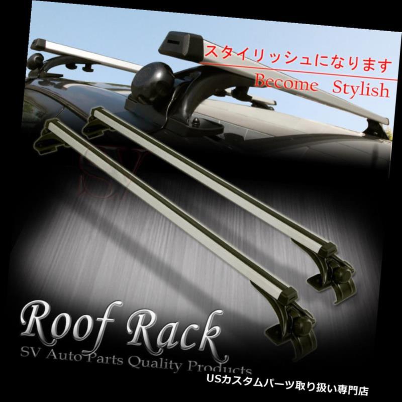 カーゴ ルーフ キャリア アキュラクライスラールーフラッククロスバーネイキッドトップマウントアルミ貨物運搬船用 For Acura Chrysler Roof Rack Cross Bar Naked Top Mount Aluminum Cargo Carrier