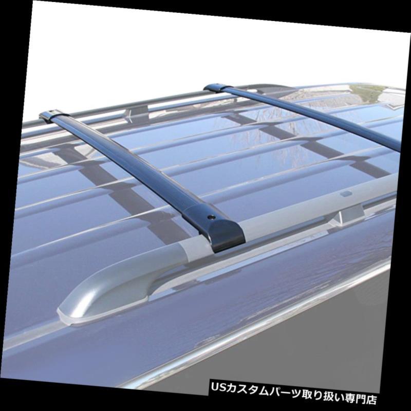カーゴ ルーフ キャリア 05-10ホンダオデッセイ用2xアルミルーフラックレールクロスバーカーゴキャリアブラック 2x Aluminum Roof Rack Rail Cross Bar Cargo Carrier Black For 05-10 Honda Odyssey