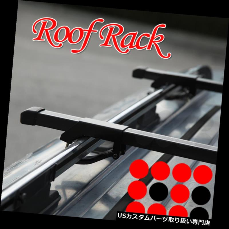 カーゴ ルーフ キャリア ポルシェユーティリティ屋上ルーフラック貨物スクエアクロスバー荷物キャリアセット Porsche Utility Rooftop Roof Rack Cargo Square Cross Bars Luggage Carrier Set