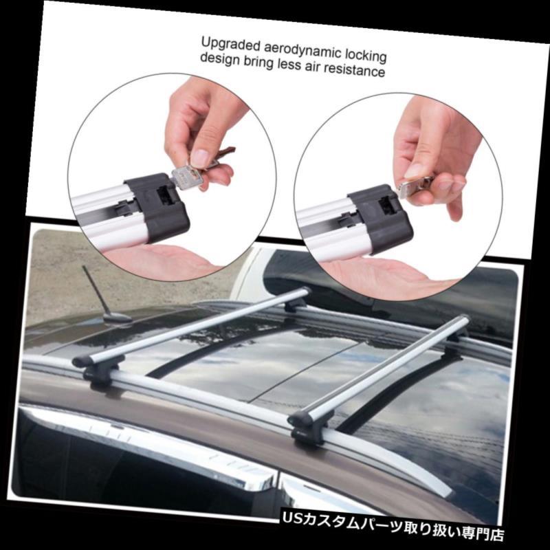 カーゴ ルーフ キャリア ユニバーサルカートップルーフクロスバー荷物貨物キャリアラックSUVクランプ新しい Universal Car Top Roof Cross Bar Luggage Cargo Carrier Rack SUV Clamp New
