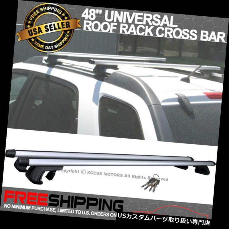車用品・バイク用品 >> 車用品 >> キャリア・ラック >> ルーフラック カーゴ ルーフ キャリア ルーフレールルーフラッククロスバークランプラゲッジキャリアアルミ製48にフィット Fit 48 in Roof Rail Roof Rack Cross Bar Clamps Luggage Carrier Aluminum