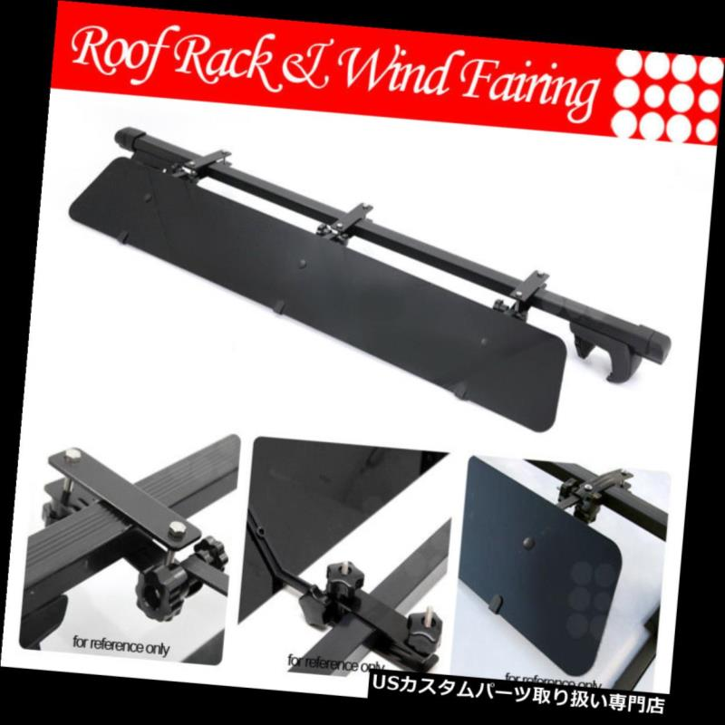 カーゴ ルーフ キャリア Kiaルーフトップラック48インチスクエアクロスバーラゲッジキャリア+ウィンドフェアリング Fit Kia Rooftop Rack 48