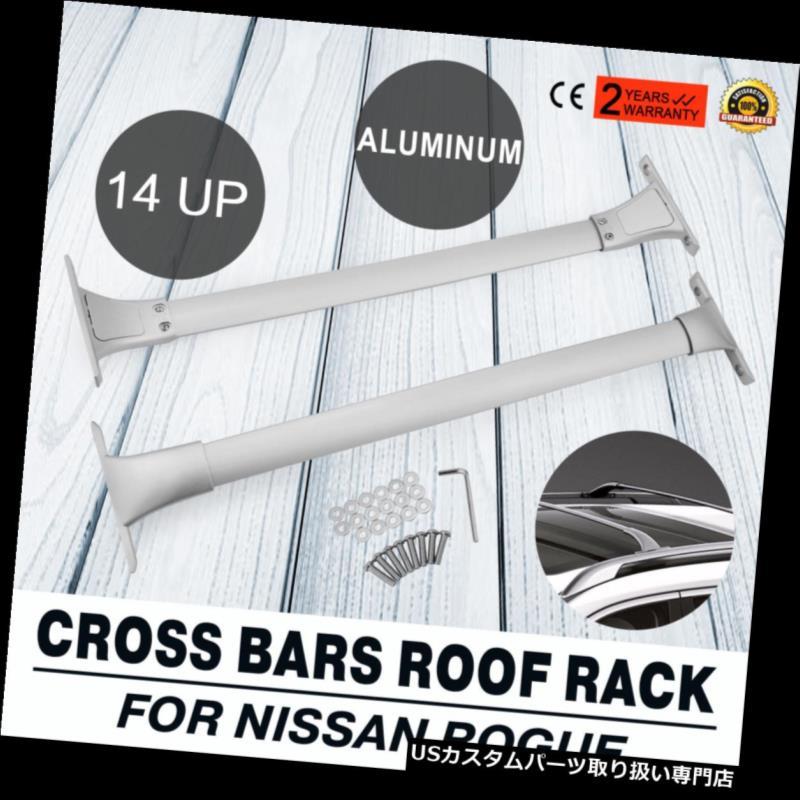 カーゴ ルーフ キャリア フィット2014-2018日産ローグOEMルーフラックトップレールクロスバーカーゴカヤックキャリア Fit 2014-2018 Nissan Rogue OE Roof Rack Top Rails Cross Bar Cargo Kakay Carrier