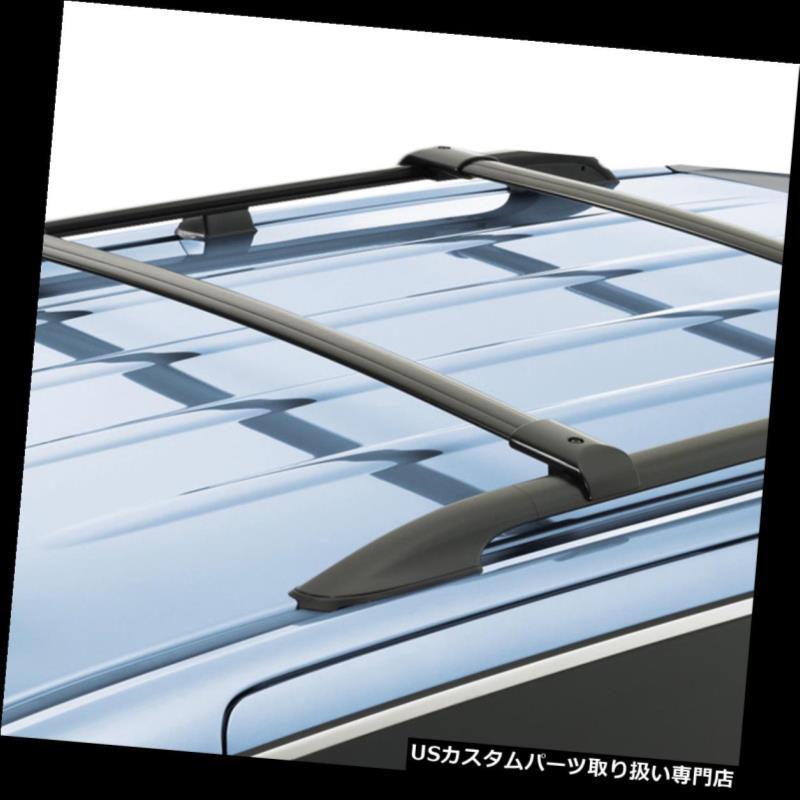 カーゴ ルーフ キャリア 03-08ホンダパイロット用2倍アルミルーフラックレールクロスバー貨物キャリアブラック 2x Aluminum Roof Rack Rail Cross Bar Cargo Carrier Black For 03-08 Honda Pilot