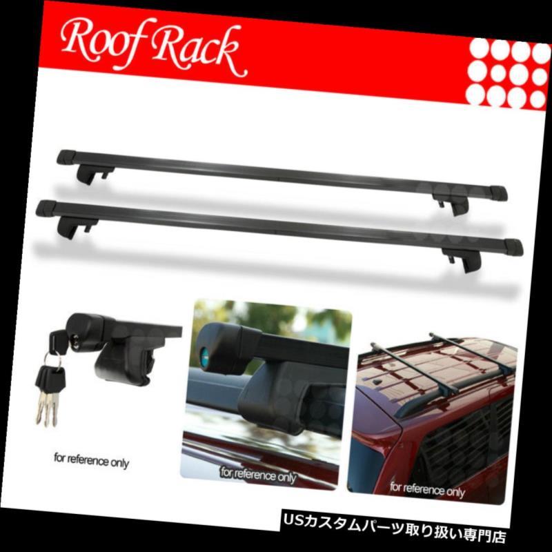 カーゴ ルーフ キャリア フォルクスワーゲンレールタワールーフトップラック48インチクロスバー荷物キャリア+ロック Fit Volkswagen Rail Tower Rooftop Rack 48