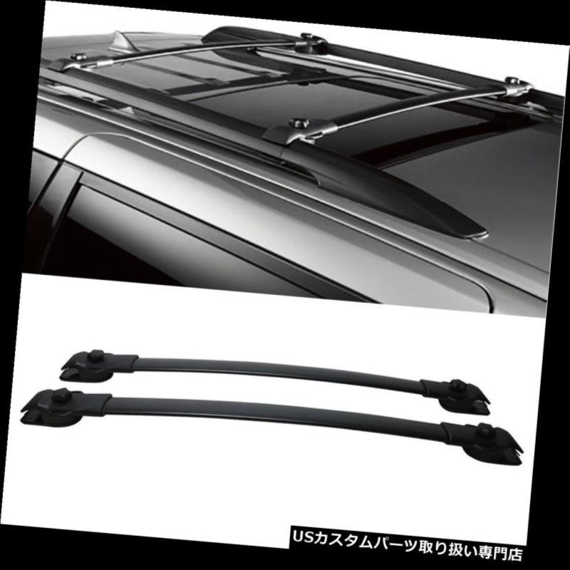 カーゴ ルーフ キャリア 1ペアブラックアルルーフラッククロスバートップレールキャリー11-17トヨタシエナ 1 Pair Black Al Roof Rack Cross Bars Top Rail Carries For 11-17 Toyota Sienna