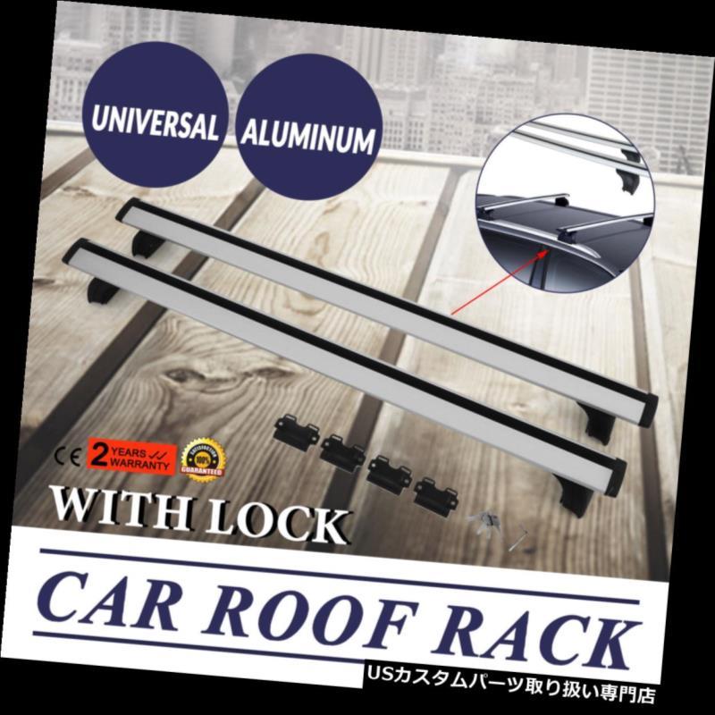 カーゴ ルーフ キャリア SUVのためのロックが付いているアルミニウム屋根の棚のクロスバーの上の柵の荷物の貨物運搬船 Aluminum Roof Rack Cross Bar Top Rail Luggage Cargo Carrier With Lock For SUV