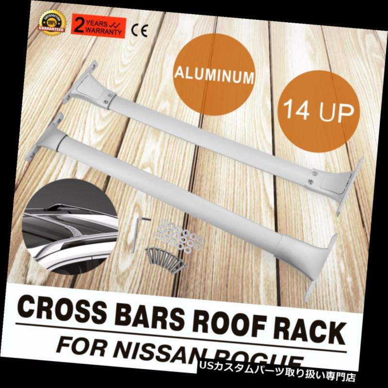 カーゴ ルーフ キャリア 2014-2018日産ローグのためのルーフラッククロスバー貨物キャリア Roof Rack Cross Bar Cargo Carrier For 2014-2018 Nissan Rogue