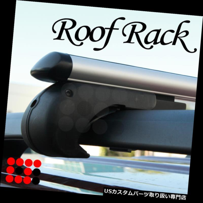 カーゴ ルーフ キャリア ランドローバーユーティリティアルミルーフラッククロスバー荷物キャリアセット+キーロック Land Rover Utility Aluminum Roof Rack Cross Bars Luggage Carrier Set + Key Lock