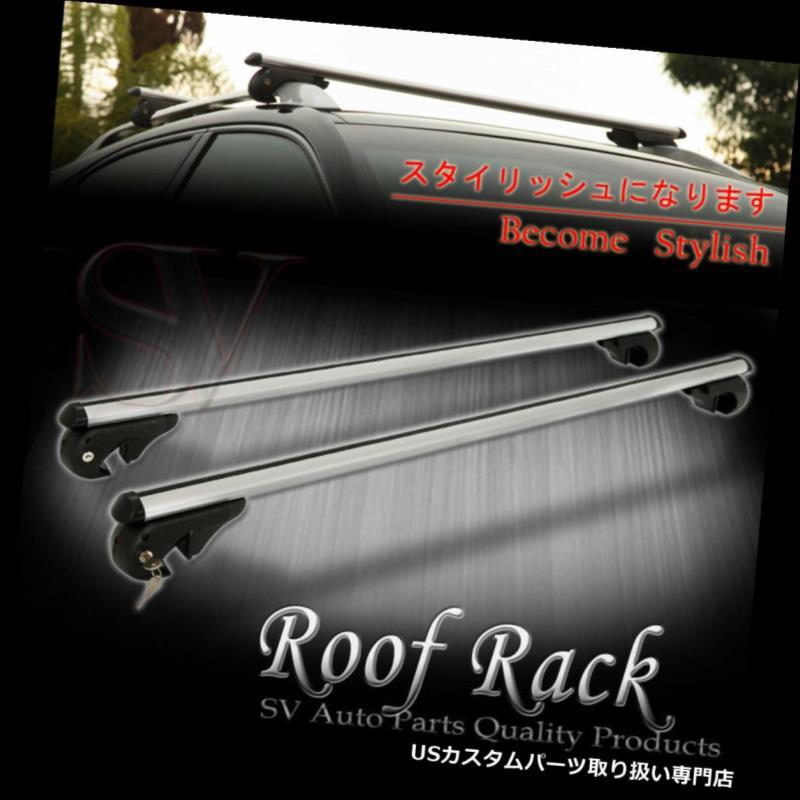 カーゴ ルーフ キャリア リンカーンルーフラックキーロッククロスバートップレールマウントアルミ貨物キャリア用 For Lincoln Roof Rack Key Lock Cross Bar Top Rail Mount Aluminum Cargo Carrier
