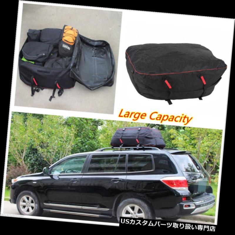 カーゴ ルーフ キャリア 車のバンSUVルーフトップカーゴラック防水荷物トラベルバッグキャリアラック新 Car Van SUV Roof Top Cargo Rack Waterproof Luggage Travel Bag Carrier Rack New