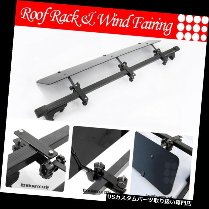 カーゴ ルーフ キャリア 三菱レールルーフトップラック48インチクロスバーラゲッジキャリア+ウィンドフェアリング Fit Mitsubishi Rail Rooftop Rack 48