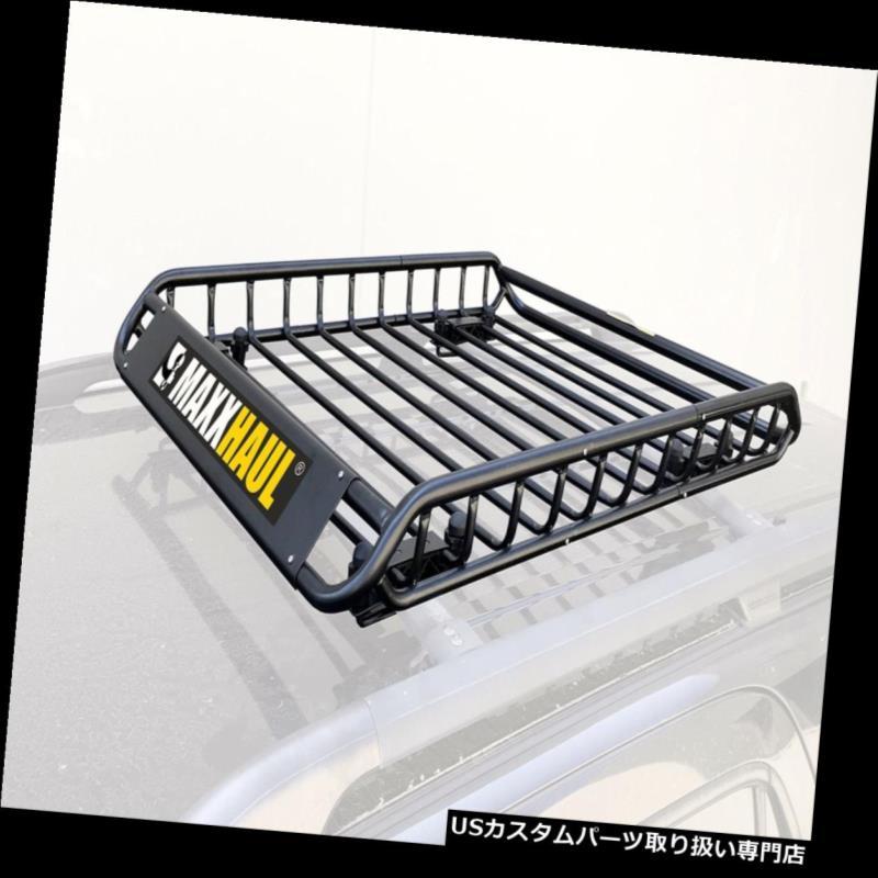 カーゴ ルーフ キャリア MaxxHaul 70115ユニバーサルスチールルーフラックカートップカーゴキャリア/バスケット - 46 x ... MaxxHaul 70115 Universal Steel Roof Rack Car Top Cargo Carrier/Basket - 46 x...