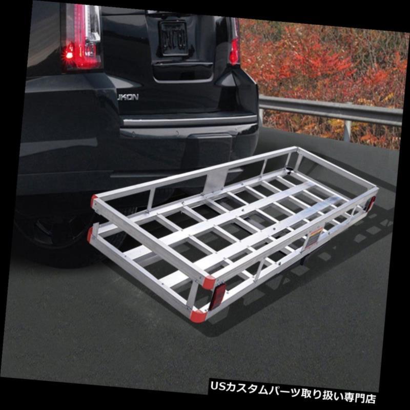 カーゴ ルーフ キャリア ヒッチ貨物キャリアマウントバスケット荷物ラックカーパッドホルダーSUVトラック収納 Hitch Cargo Carrier Mount Basket Luggage Rack Car Pad Holder SUV Truck Storage