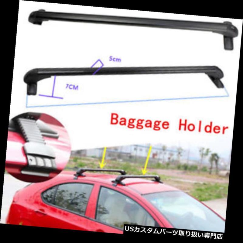 カーゴ ルーフ キャリア シボレーアベオ2010年-16用ペアブラックトップルーフラック手荷物貨物キャリアホルダー Pair Black Top Roof Rack Baggage Cargo Carrier Holder For Chevrolet Aveo 2010-16