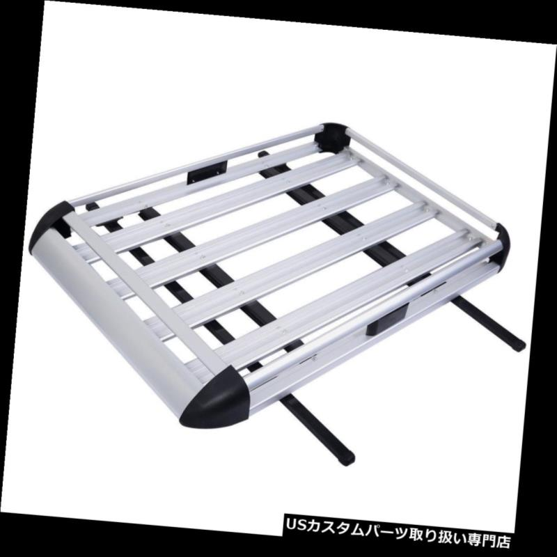 """Aluminum Car Roof Cargo Carrier Luggage Basket Rack Top w//Crossbars New 50/""""x38/"""""""