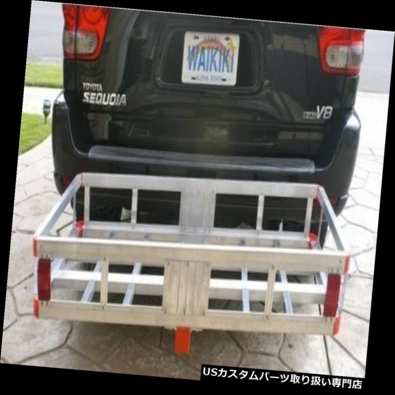 カーゴ ルーフ キャリア ヒッチマウントアルミ貨物キャリアハイレールRVトラックSUVバン車500ポンド Hitch Mount Aluminum Cargo Carrier High Rails RV Truck SUV Vans Cars 500 Lbs