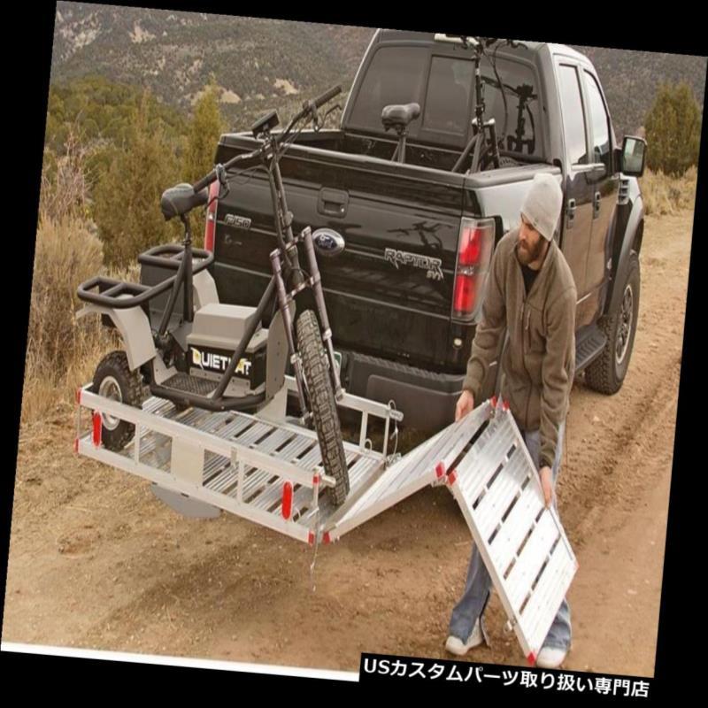 カーゴ ルーフ キャリア 傾斜路折りたたみ車椅子スクーター後部トラックラック付きヒッチマウント貨物キャリア Hitch Mount Cargo Carrier With Ramp Folding Wheelchair Scooter Rear Truck Rack