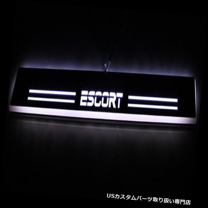 LEDステップライト 4本LED移動歓迎ライトドアシルスカッフプレートペダルforフォードエスコート15-16 4pcs LED Moving Welcome Light Door Sill Scuff Plate Pedal For Ford Escort 15-16