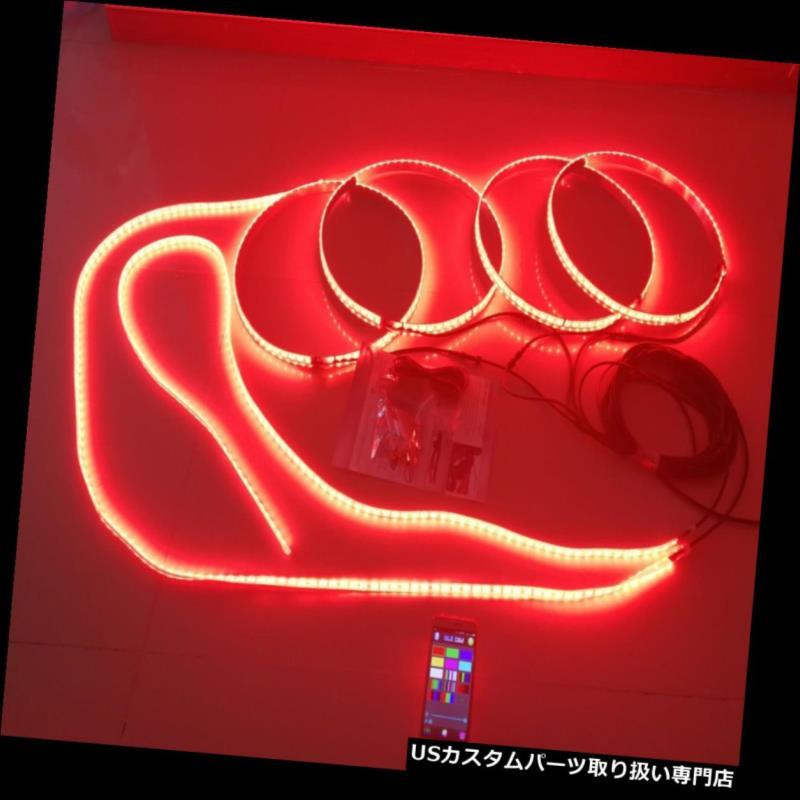 LEDステップライト ドア敷居スカッフプレートペダルライト用RGB LEDホイールライト同期LEDストリップ RGB LED Wheel Light Synced LED Strip for Door Sill Scuff Plate Pedal Light