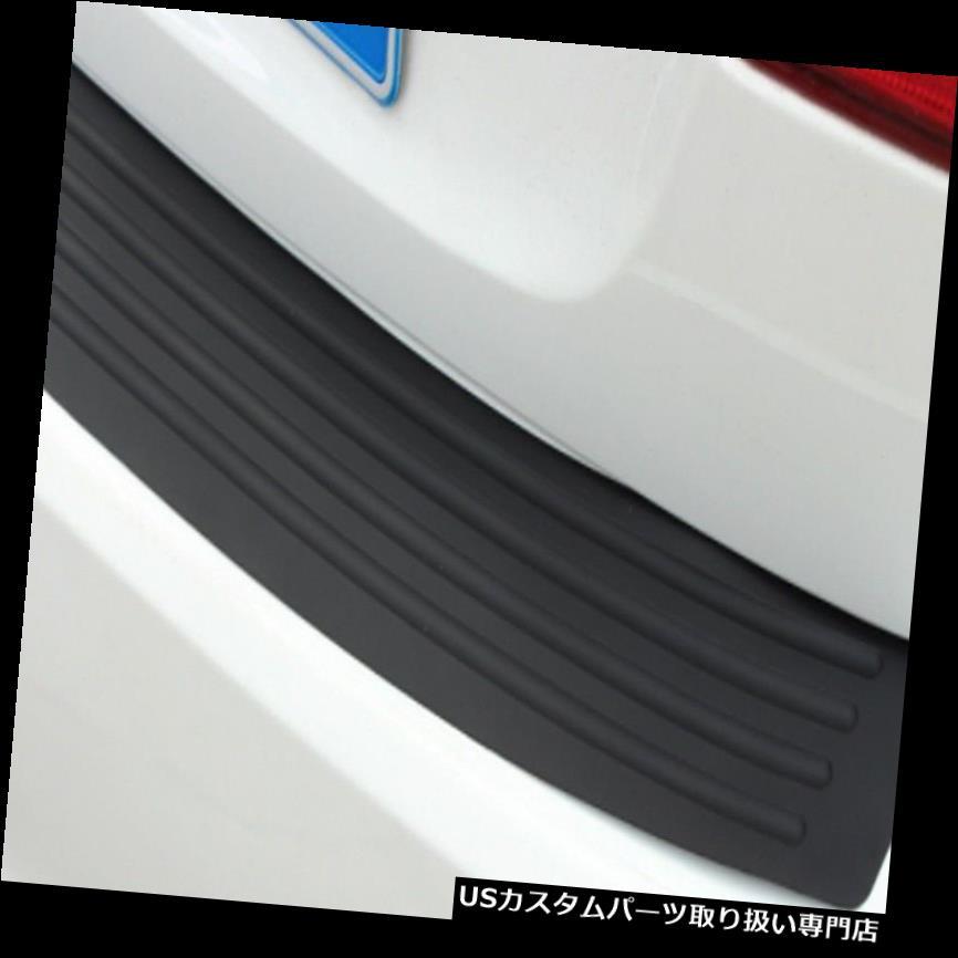 リアバンパー プロテクター 車のSUVリアトランクシルシルプレートバンパーガードプロテクターラバーパッドカバーブラック#HN Car SUV Rear Trunk Sill Plate Bumper Guard Protector Rubber Pad Cover Black #HN