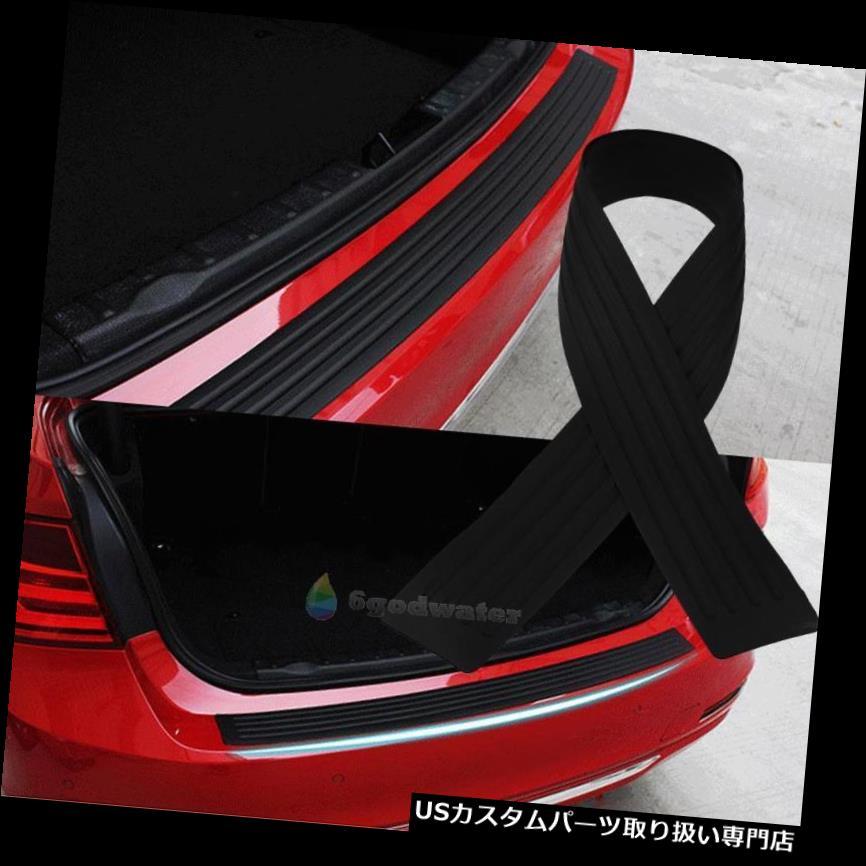 リアバンパー プロテクター ラバーカーリアバンパープロテクタートランクシルプレートガードスクラッチガードパッドブラック Rubber Car Rear Bumper Protector Trunk Sill Plate Guard Scratch Guard Pad Black