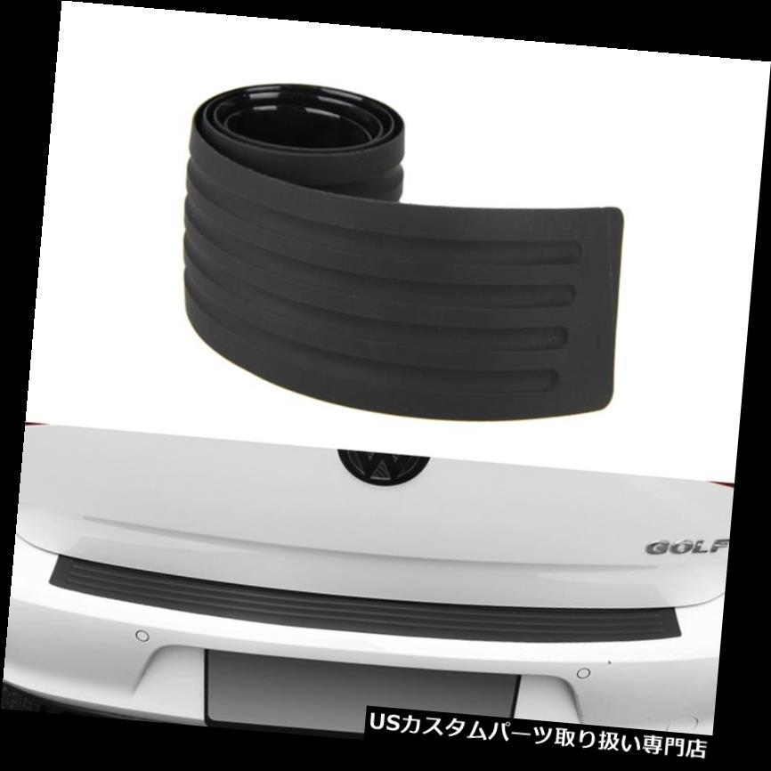 リアバンパー プロテクター ユニバーサルカーラバーリアバンパープロテクタートランクカバーガードスクラッチガードブラック Universal Car Rubber Rear Bumper Protector Trunk Cover Guard Scratch Guard BLAK