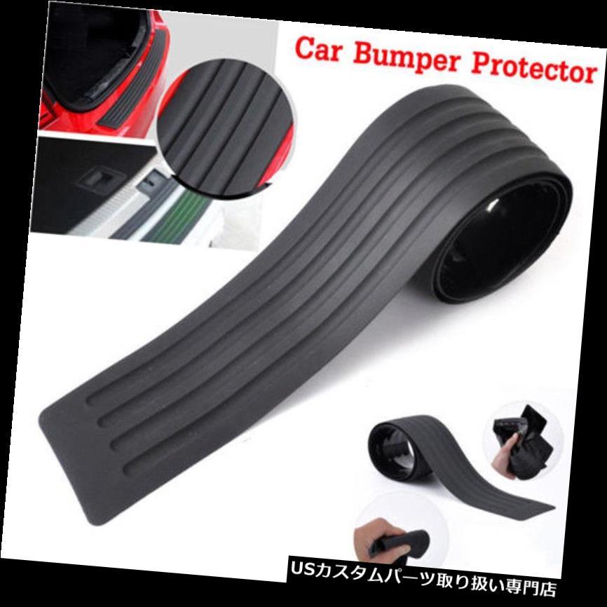 リアバンパー プロテクター ユニバーサルカーリアバンパーシルプロテクターラバーカバーガードトリムパッド90cmブラック Universal Car Rear Bumper Sill Protector Rubber Cover Guard Trim Pad 90cm Black