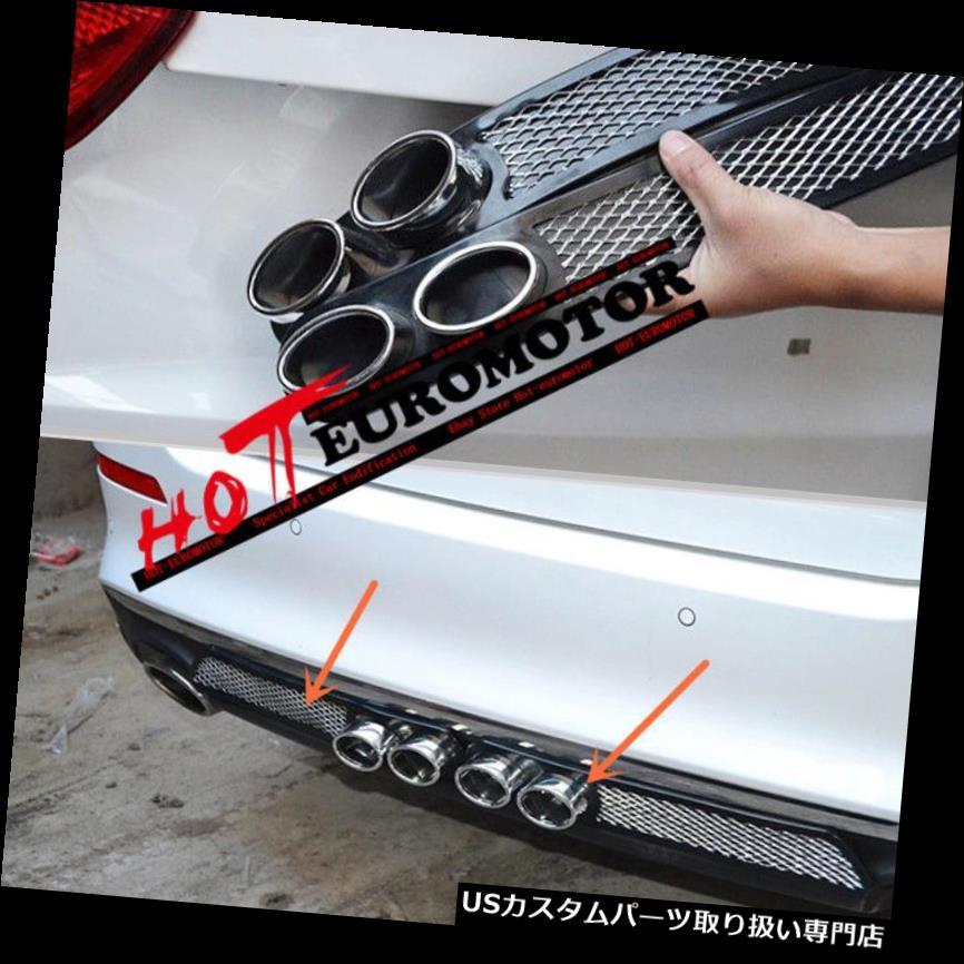 リアバンパー プロテクター 2ピースユニバーサルバンパープロテクターガードパッドボディキット車のリアフェイクエキゾーストパイプ 2PCS Universal Bumper Protector Guard Pad Body Kit Car Rear Fake exhaust pipe