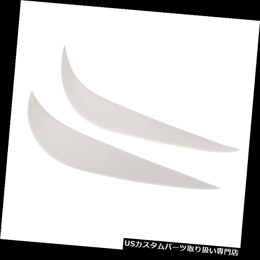 リアバンパー プロテクター 2本ユニバーサル車のフロントリアバンパーガードプロテクターホワイト 2pcs Universal Car Front Rear Bumper Guard Protector White