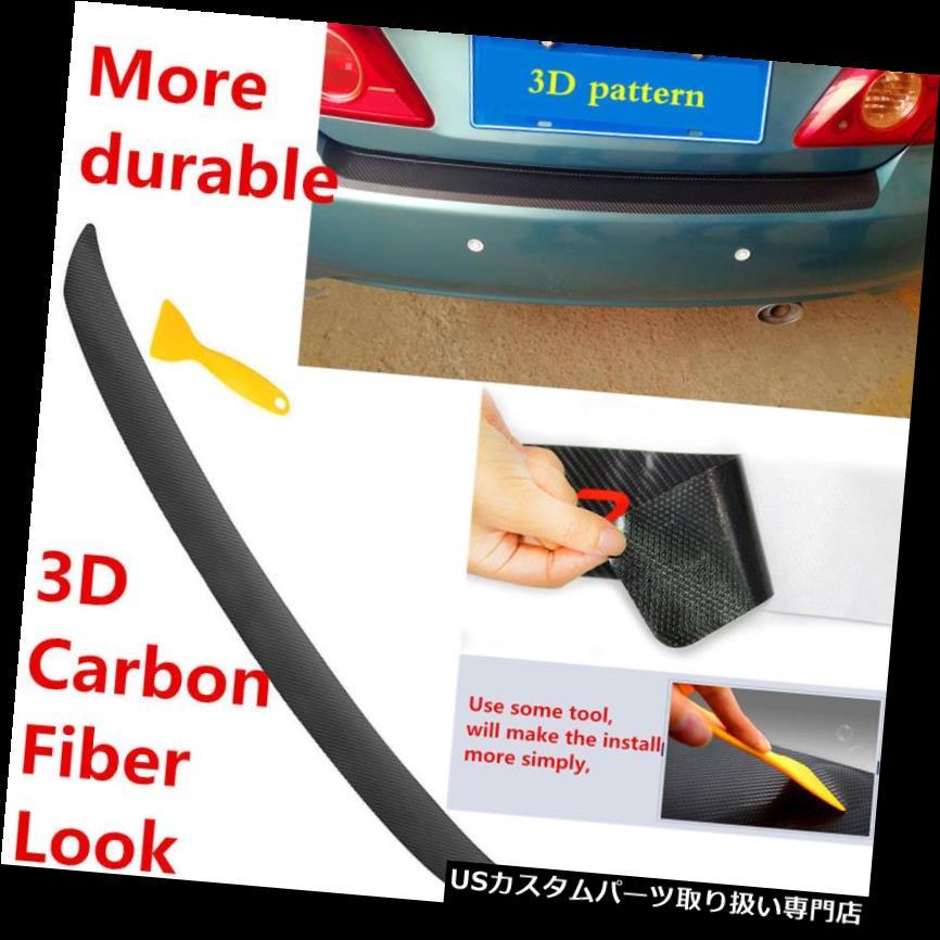リアバンパー プロテクター ホンダのための1本の3Dカーボンファイバールックインナーリアバンパープロテクターシルトランクトリム 1pcs 3D Carbon Fiber Look Inner Rear Bumper Protector Sill Trunk Trim For Honda