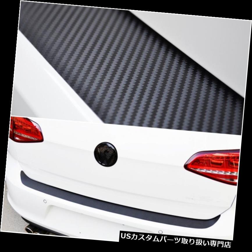 リアバンパー プロテクター リアバンパープロテクションカーボンファイバールックオートトランクテールアンチスクラッチステッカー Rear Bumper Protection Carbon Fiber Look Auto Trunk Tail Anti Scratch Sticker