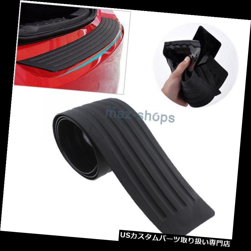 リアバンパー プロテクター 1×ブラックカーボンファイバーの外観自動後部トランクテールリップ保護アンチスクラッチステッカー 1x Black Carbon Fiber Look Auto Rear Trunk Tail Lip Protect Anti Scratch Sticker