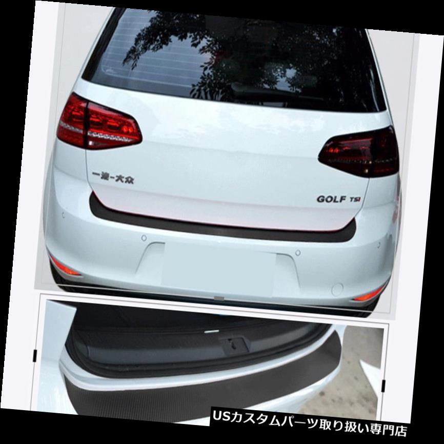 リアバンパー プロテクター 4Dブラックカーボンファイバーオートリアトランクテールリップ保護ステッカーステッカーカースタイリング 4D Black Carbon Fiber Auto Rear Trunk Tail Lip Protect Decal Sticker Car Styling
