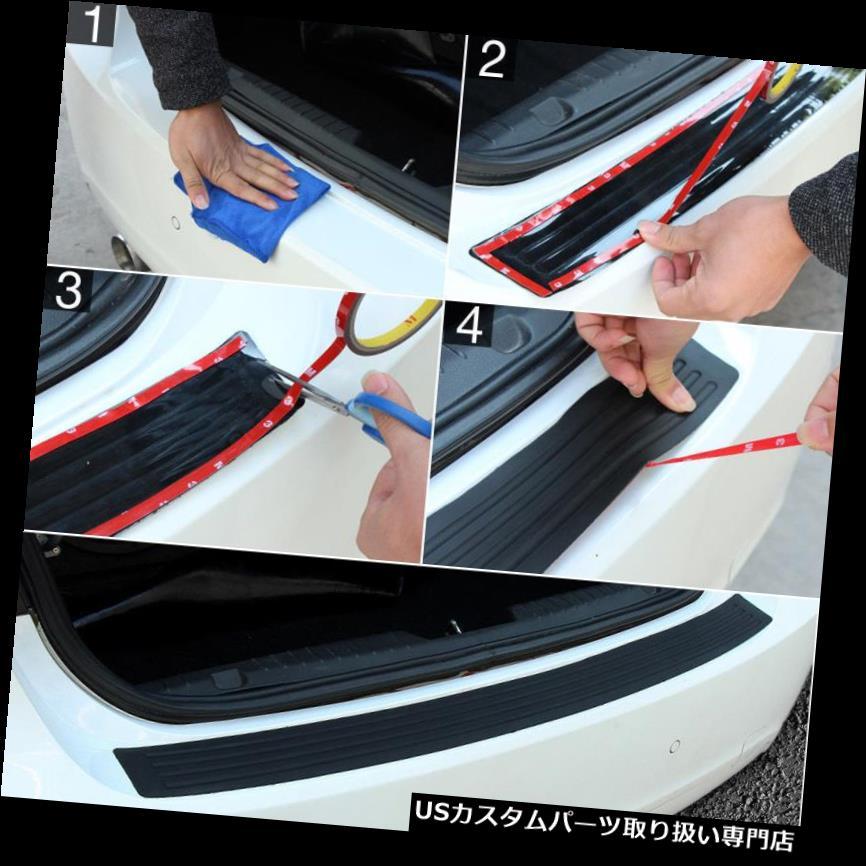 リアバンパー プロテクター ユニバーサルラバーカーリアバンパーガードプロテクタートランクシルプレートスクラッチガード Universal Rubber Cars Rear Bumper Guard Protector Trunk Sill Plate Scratch Guard