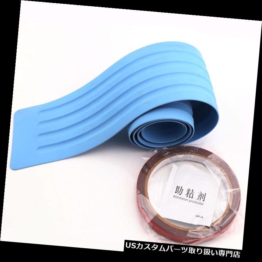 リアバンパー プロテクター 車の青い後部トランクガードプレートバンパーシル/プロテクタープレートラバースカッフカバー Car Blue Rear Trunk Guard Plate Bumper Sill/Protector Plate Rubber Scuff Cover