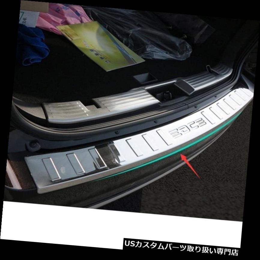 リアバンパー プロテクター 車の後部クロムバンパーガードプロテクターシルプレートカバープロテクションフォードエッジ用 Car Rear Chrome Bumper Guard Protector Sill Plate Cover Protection For Ford Edge