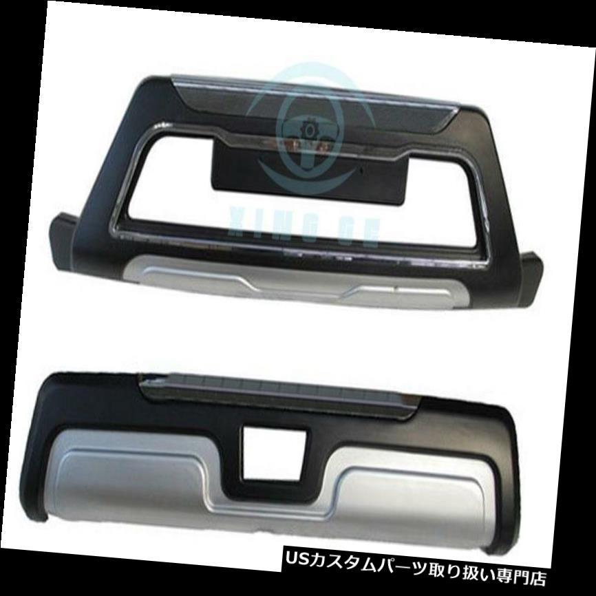 リアバンパー プロテクター スバルXV用1PCフロント+リアバンパーディフューザーバンパープロテクターガード外観 1PC Front+Rear Bumper Diffuser Bumper Protector Guard Exterior For Subaru XV