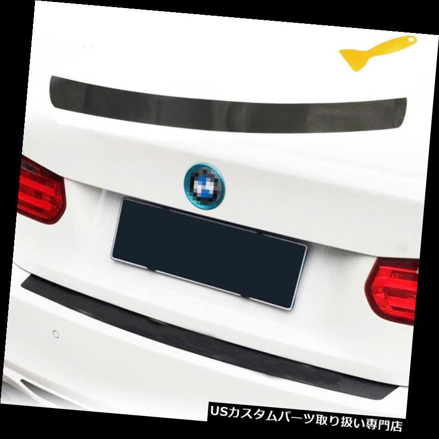 リアバンパー プロテクター BMW用カーボンファイバーテクスチャーデカールトランクバンパーガードプロテクターステッカートリム Carbon Fiber Texture Decal Trunk Bumper Guard Protector Sticker Trim for BMW