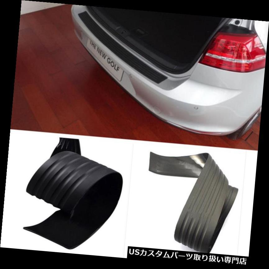 リアバンパー プロテクター ホンダトヨタ用ブラックリアバンパーシル/プロテクタープレートラバーカバーガードトリム Black Rear Bumper Sill/Protector Plate Rubber cover Guard trim for Honda Toyota