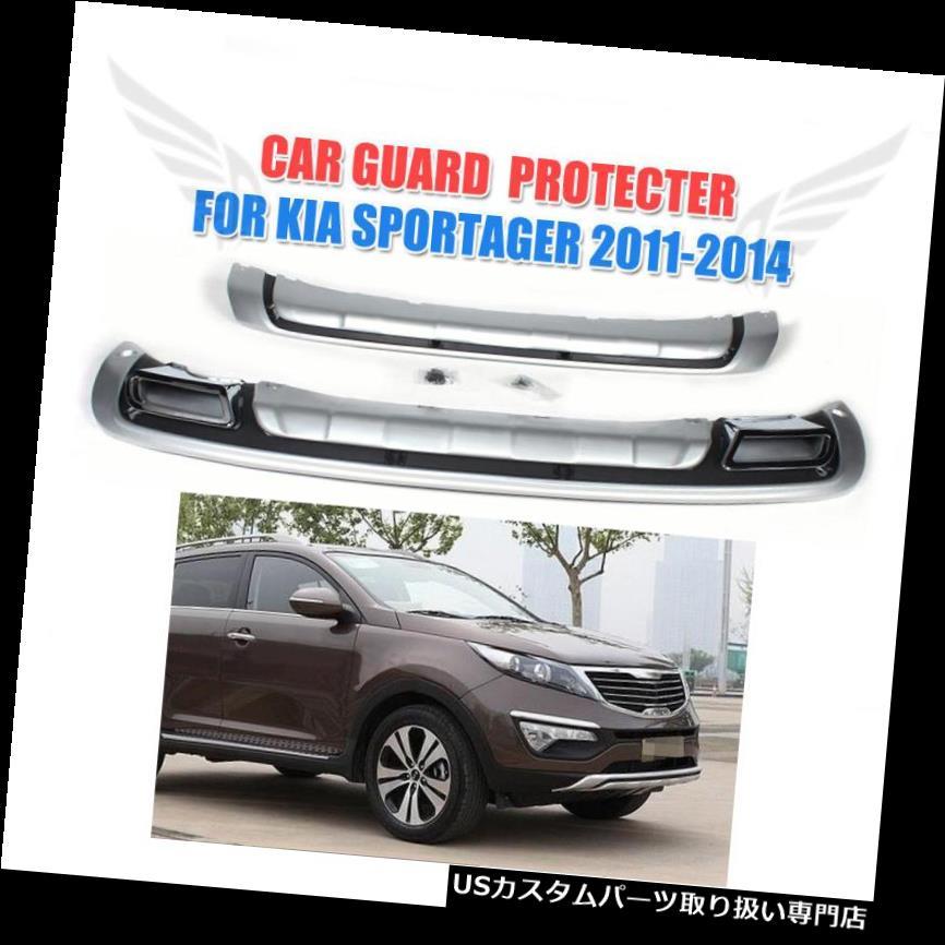 リアバンパー プロテクター Kia Sportage 2011-2014用PPフロントリアバンパープロテクターガードカバープレートフィット PP Front Rear Bumper Protector Guard Cover Plate Fit for Kia Sportage 2011-2014