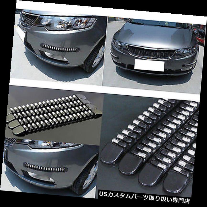 リアバンパー プロテクター フロント&アンプ4本 後部弾丸車の自動バンパープロテクターコーナーガードスクラッチステッカー 4pcs Front & Rear Bullet Car Auto Bumper Protector Corner Guard Scratch Sticker