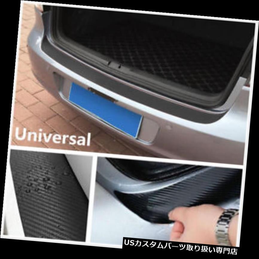 リアバンパー プロテクター カーボンファイバービニールデカールカーシルプレートバンパーガードプロテクターカバートランクトリム Carbon Fiber Vinyl Decal Car Sill Plate Bumper Guard Protector Cover Trunk Trim